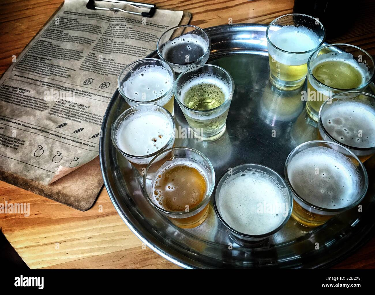 Beer tasting - Stock Image