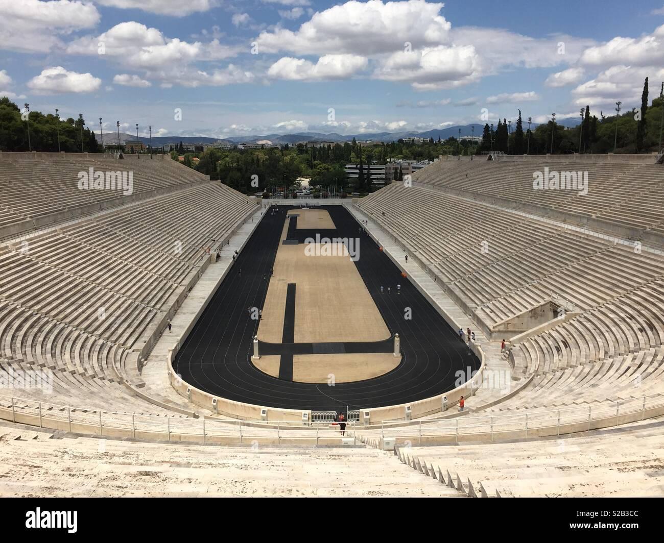 Kalimarmaro stadium in Athens, Greece Stock Photo
