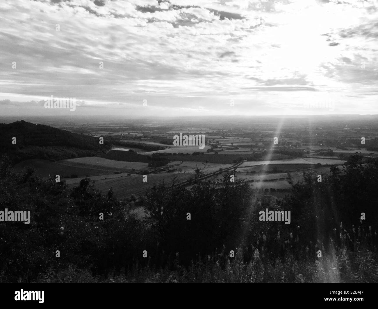 Black and white landscape - Stock Image