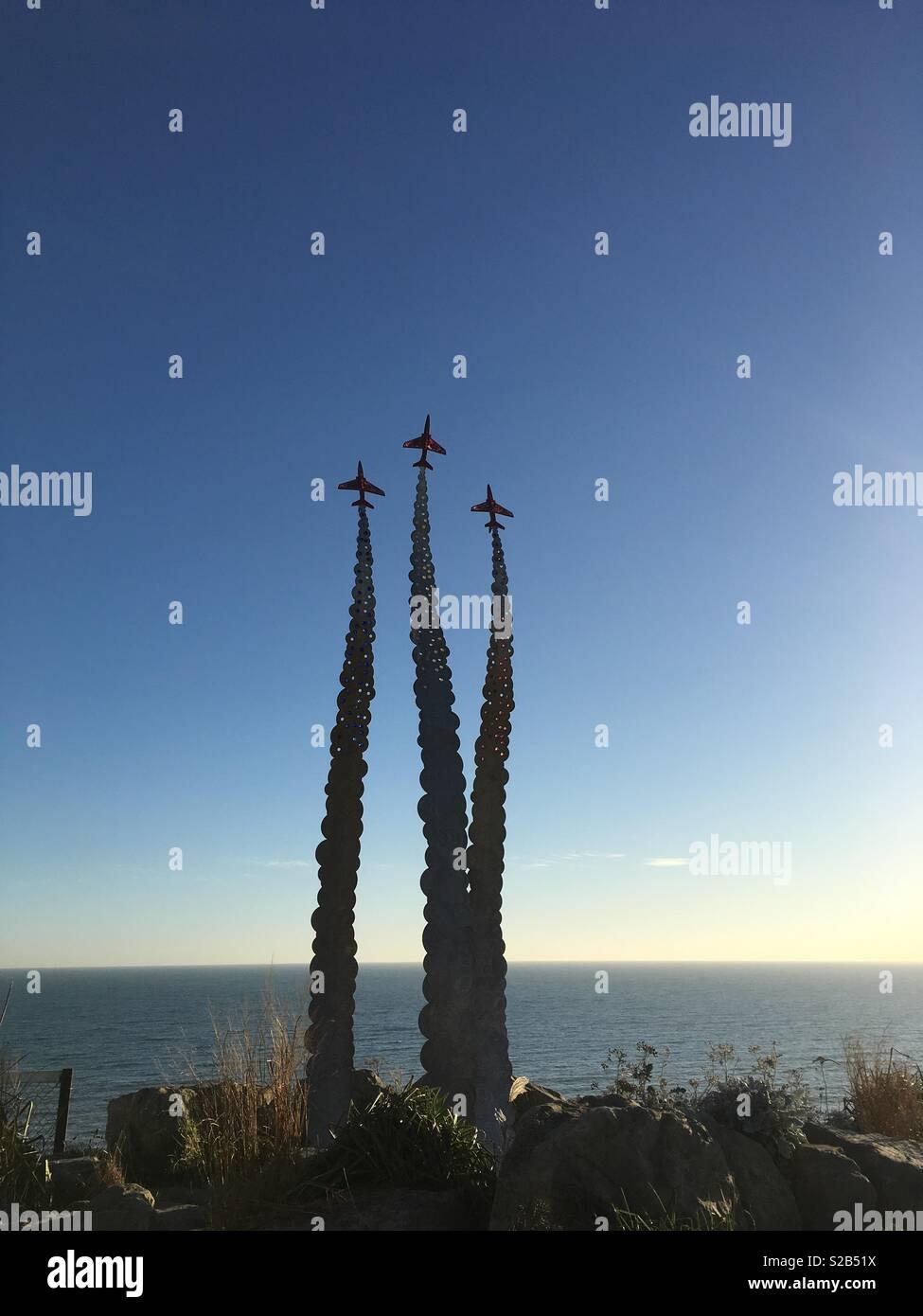 Planes heading skyhigh - Stock Image