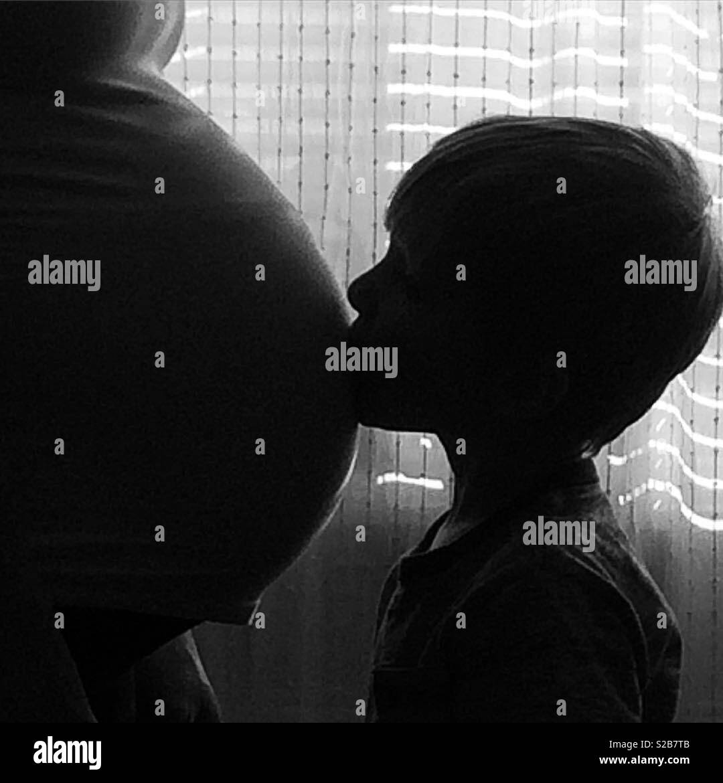 Baby bump - Stock Image