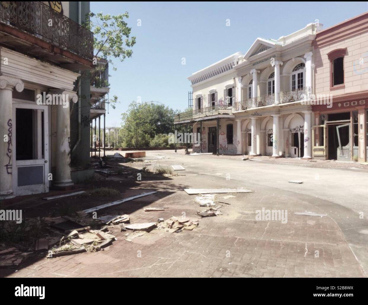 Ghost town near New Orleans - Stock Image
