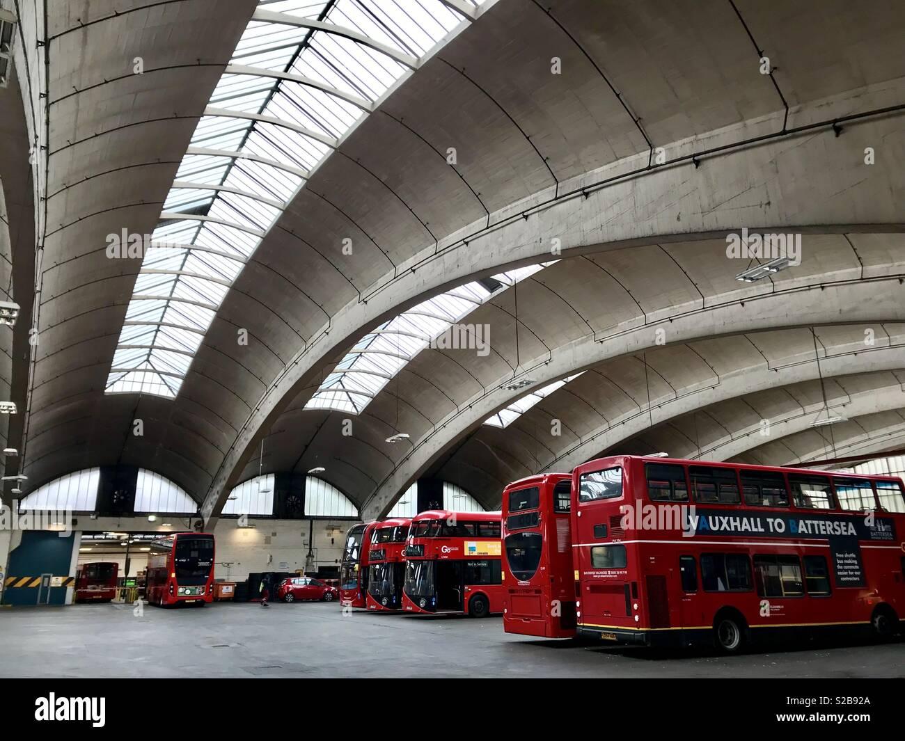 Stockwell Bus Garage - Stock Image