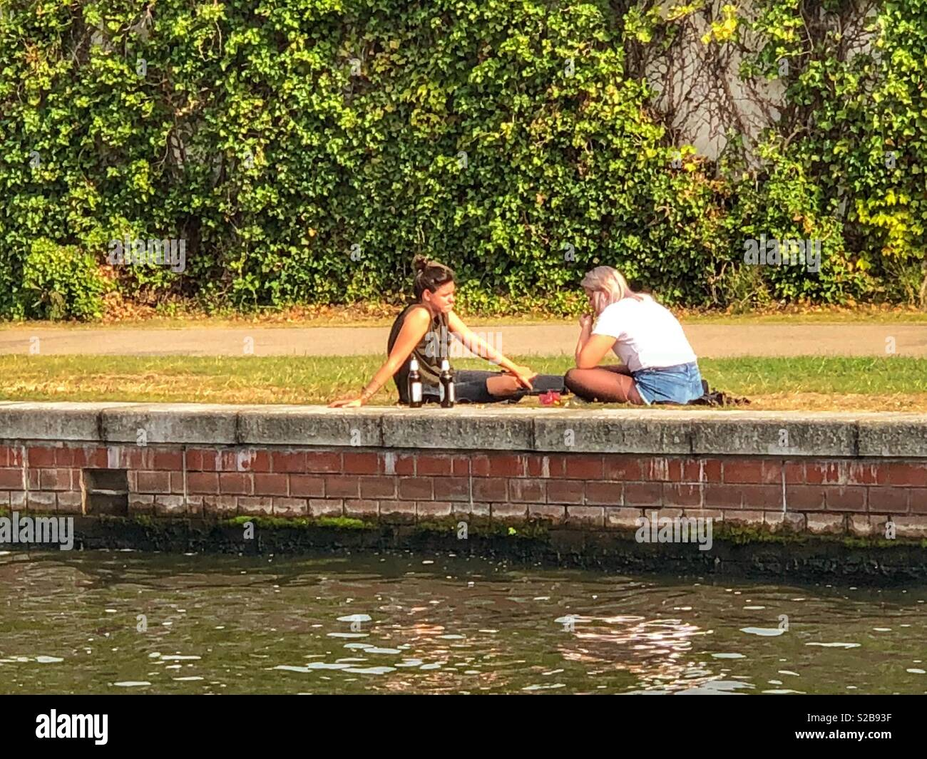 Nice time at the Spree river -Berlin - Stock Image
