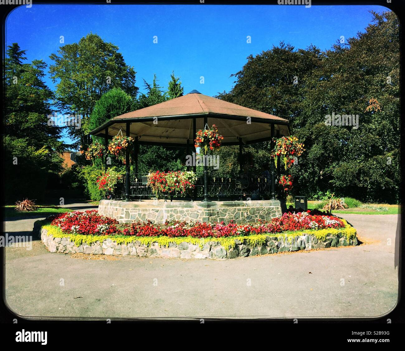 Bandstand, Queen's Park, Loughborough, Leicestershire, UK. - Stock Image
