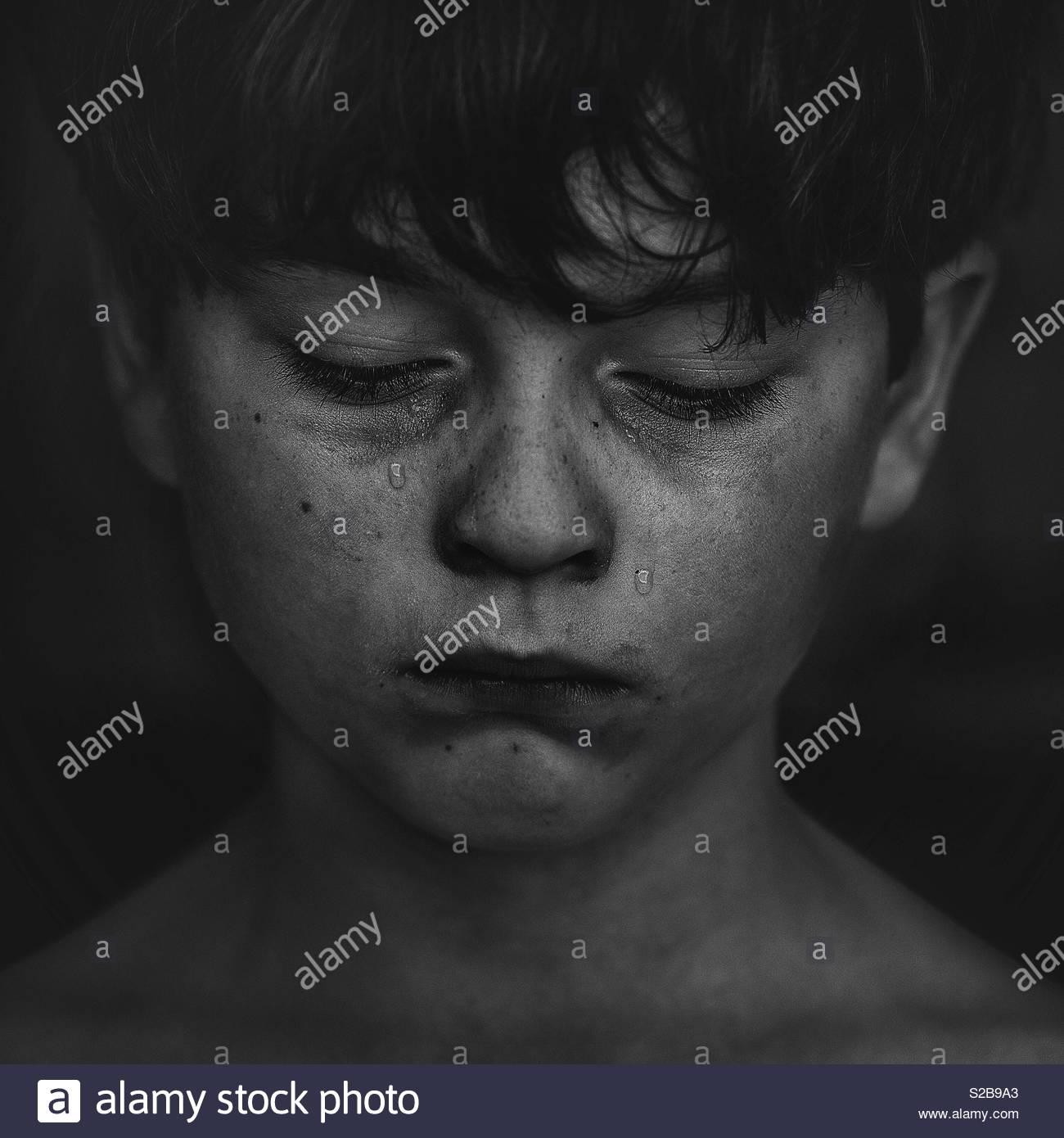 Poor boy - Stock Image