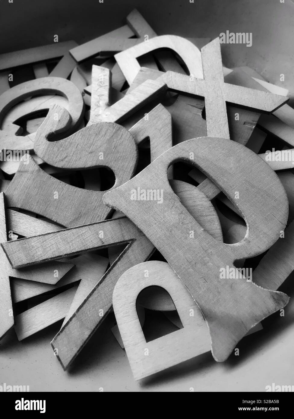 Large wooden cutout letters Stock Photo: 311265399 - Alamy