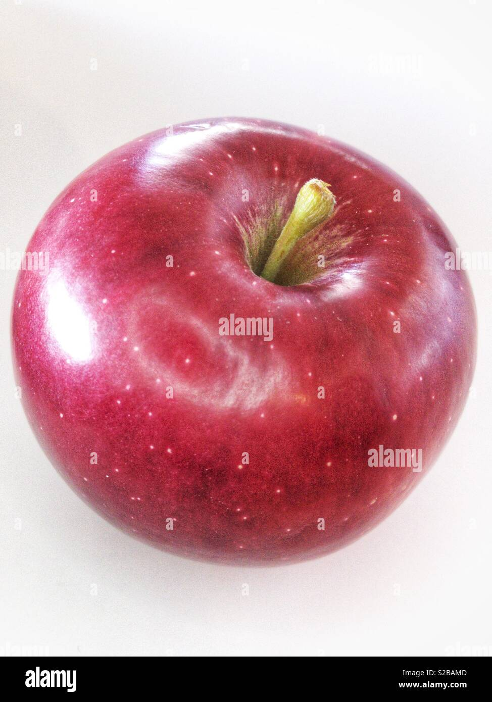 Perfect Red Apple - Stock Image