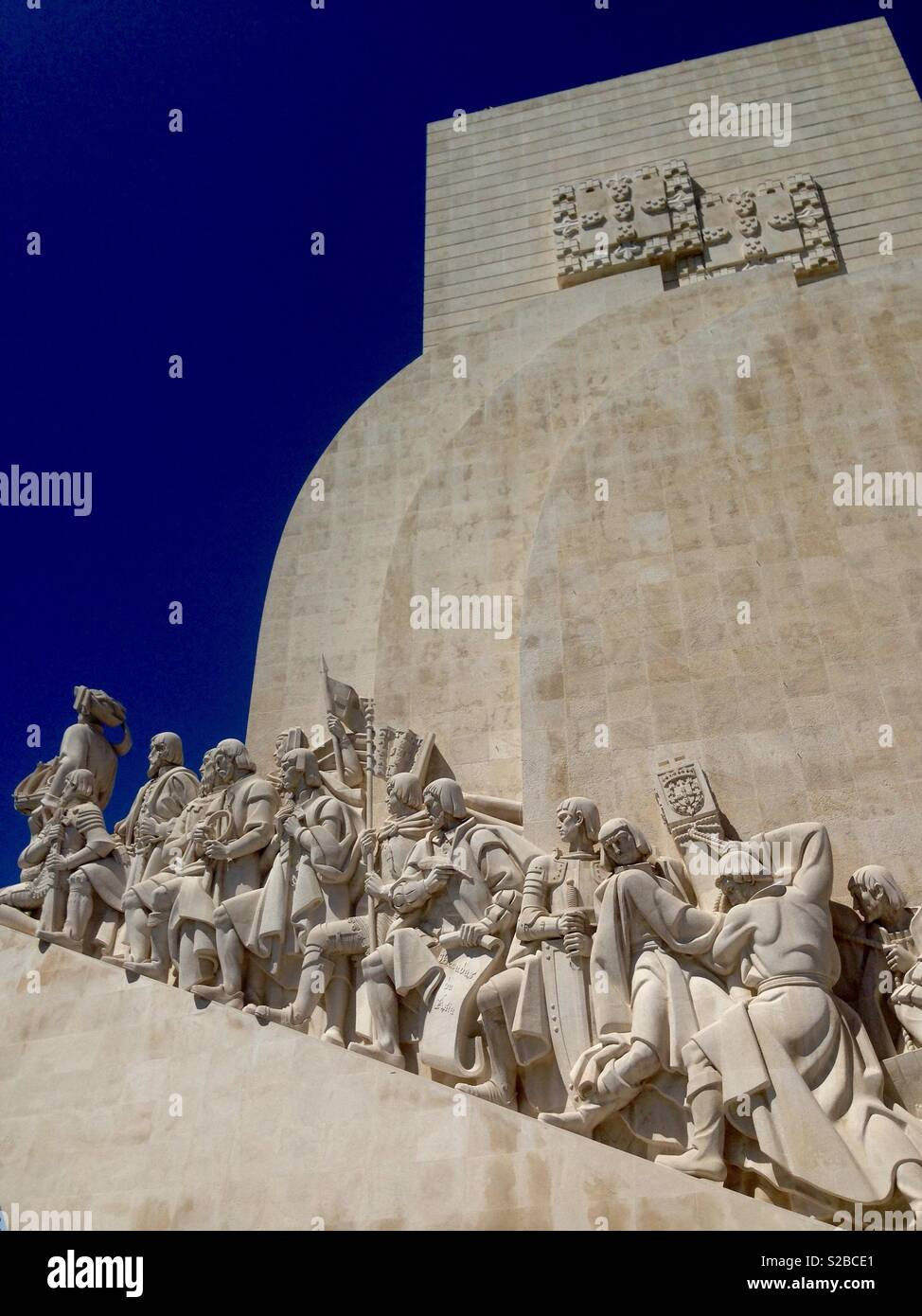 Monument to the Discoveries, Lisbon Portugal - Stock Image