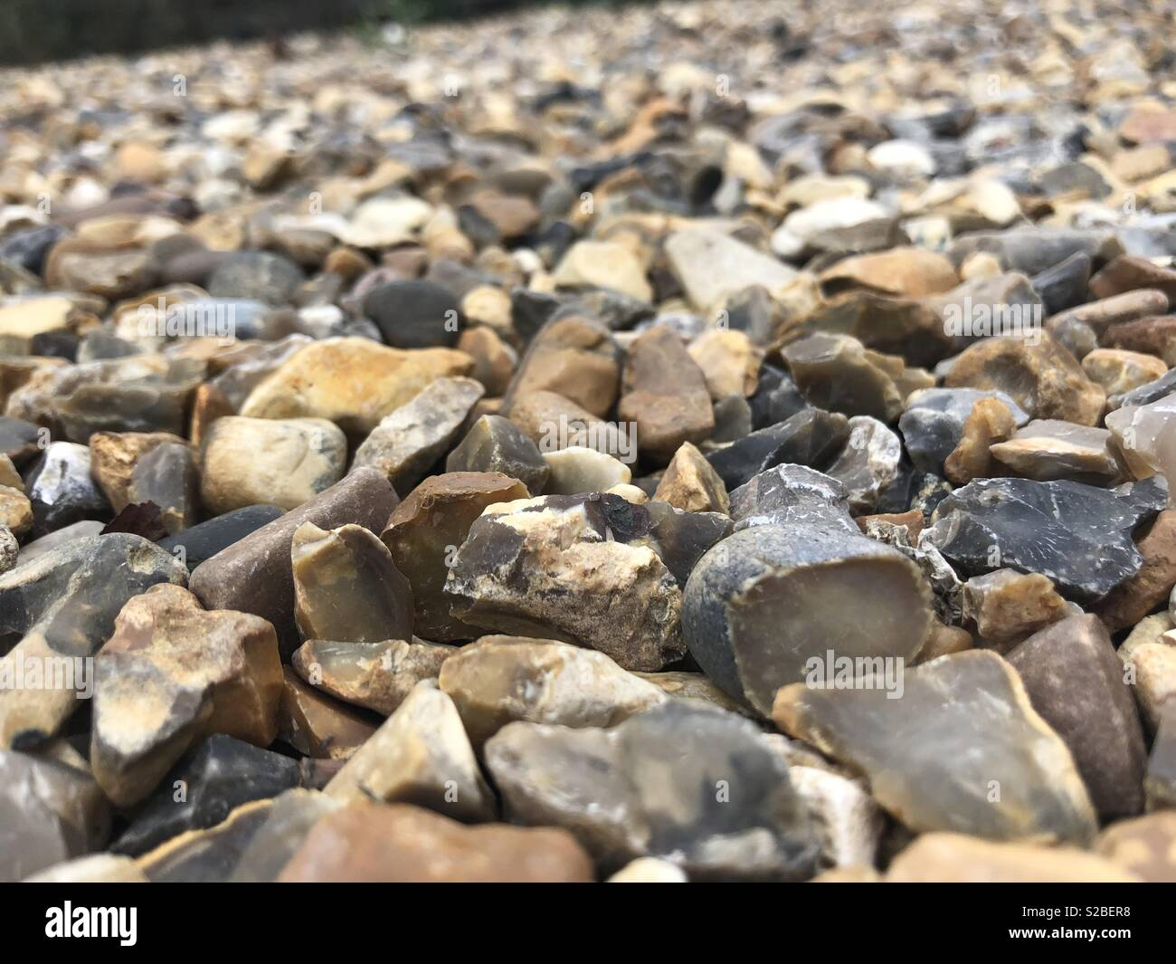 Rocks.. with the softest hand, you can shape hardest rocks. - Stock Image