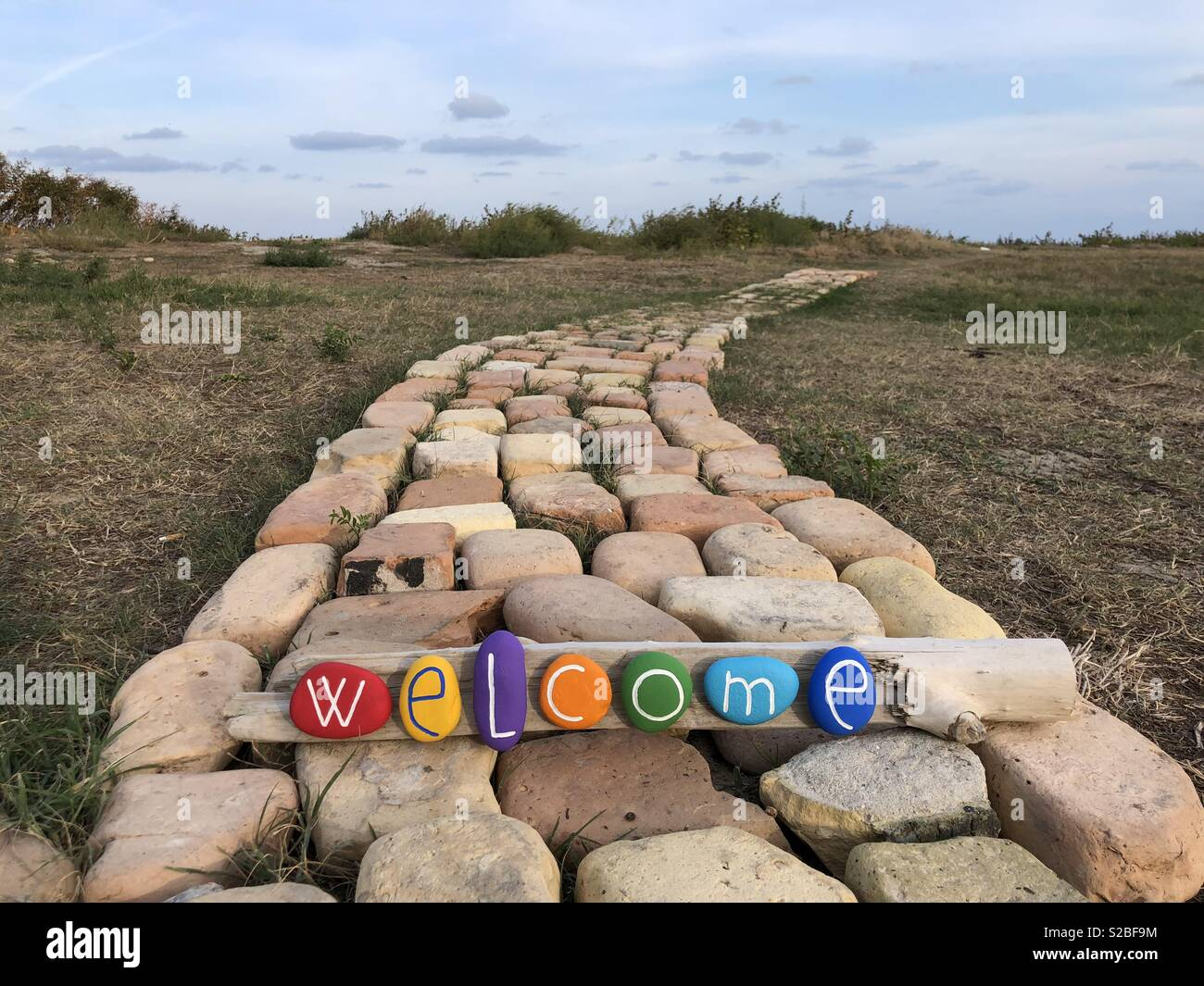 Multi colored welcome - Stock Image