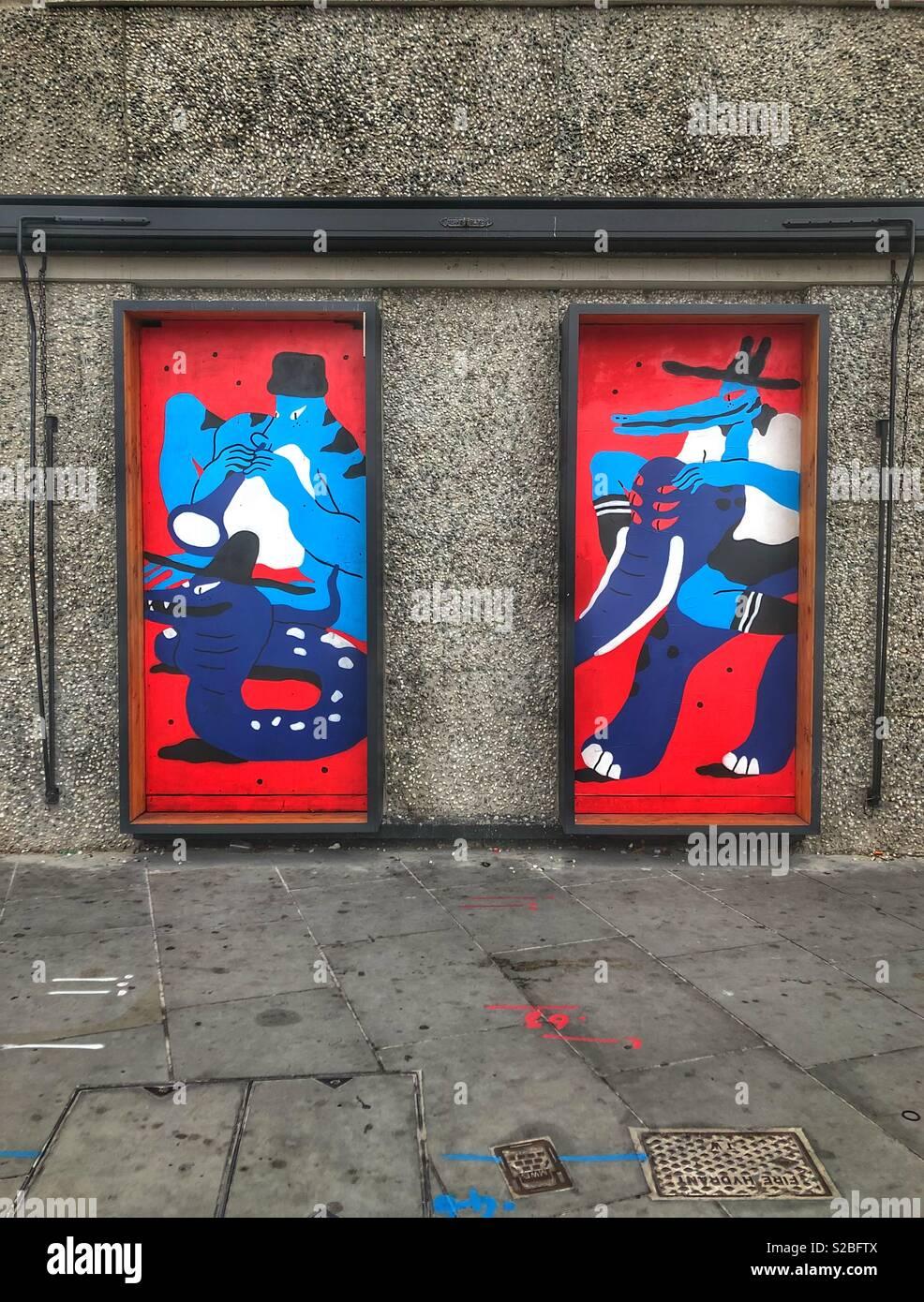 Shoreditch street art - no filter - Stock Image