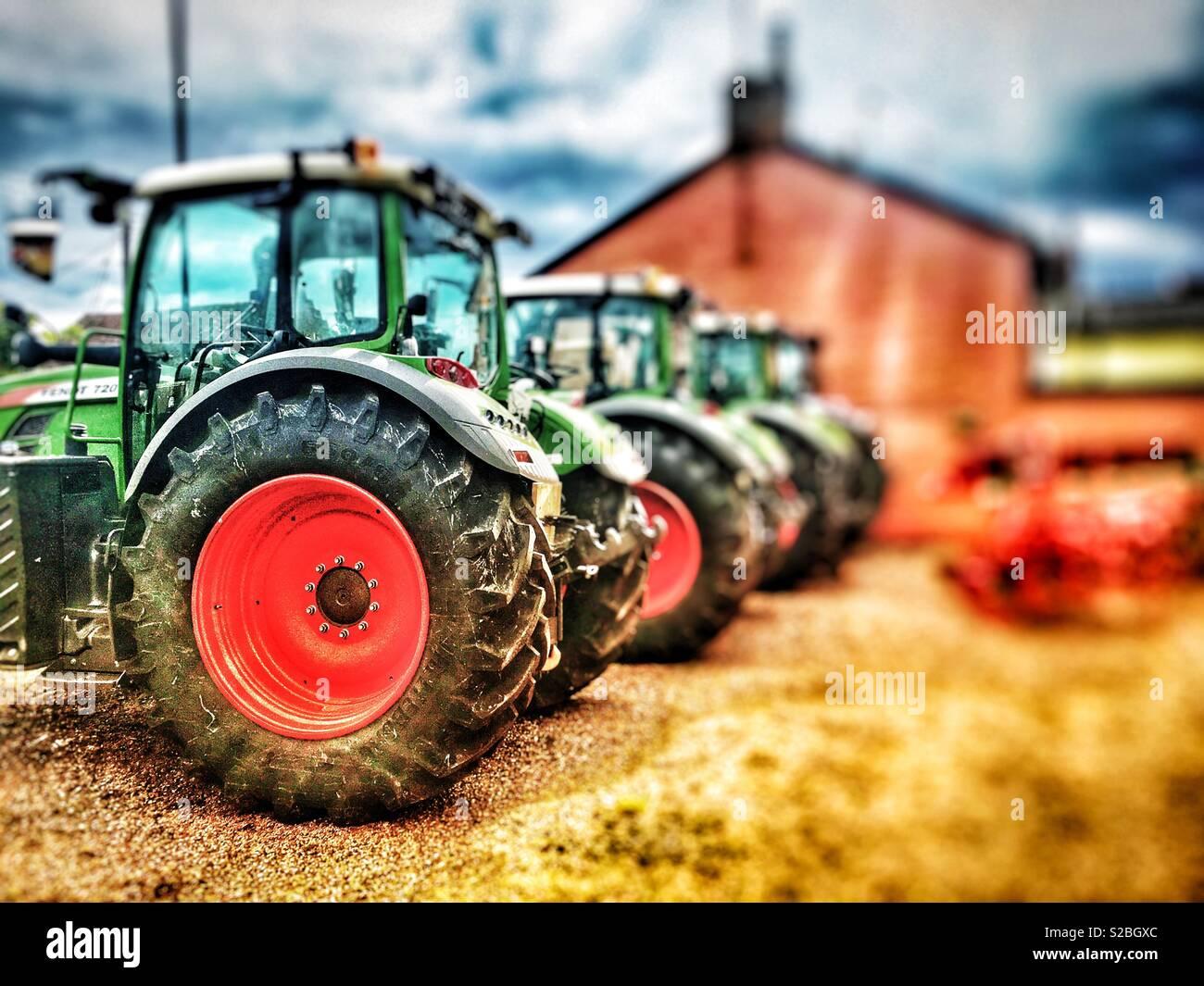 New Fendt tractors for sale at a U K  dealership, Melton