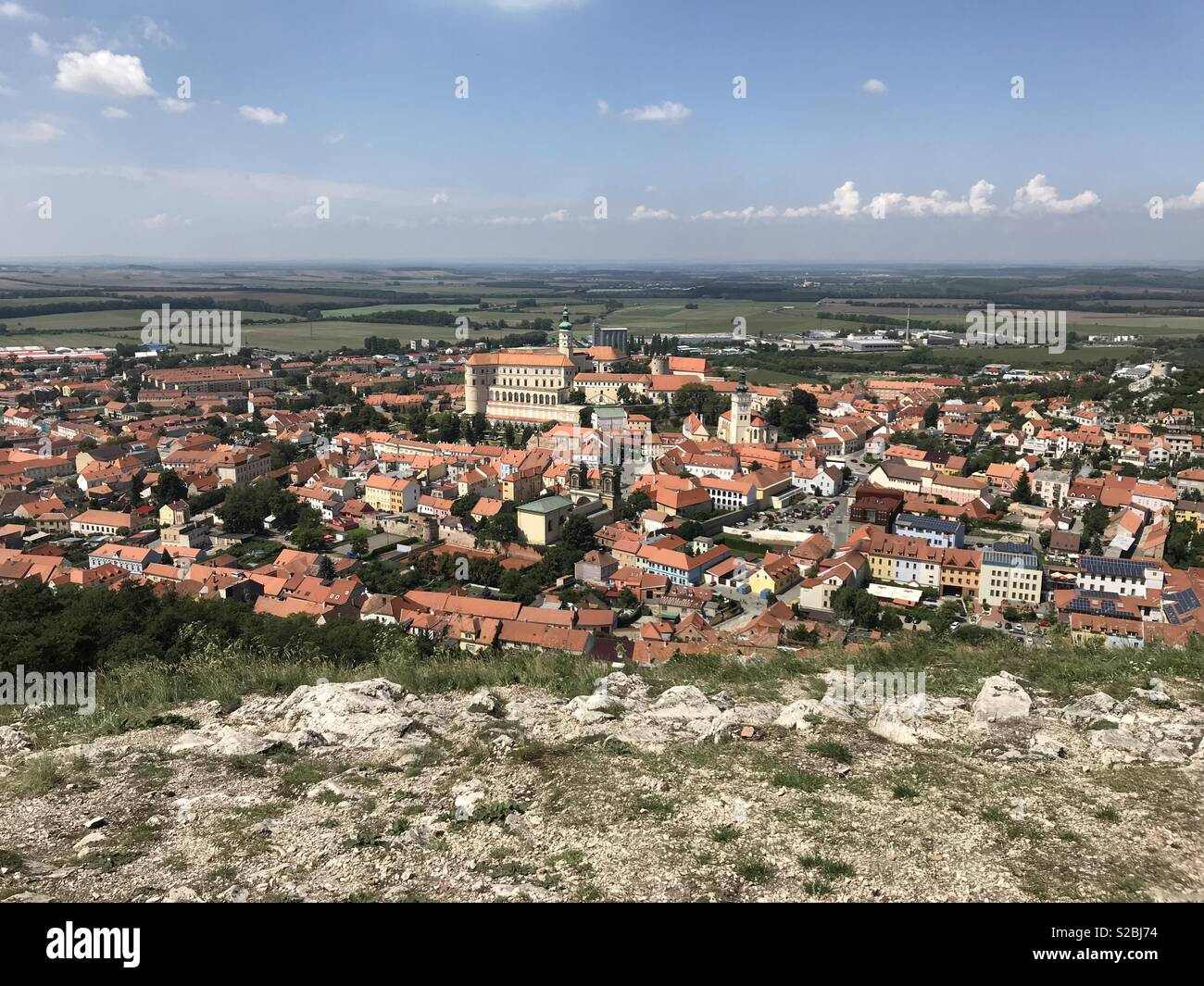Mikulov from Holy Mountain (Czech Republic - Stock Image