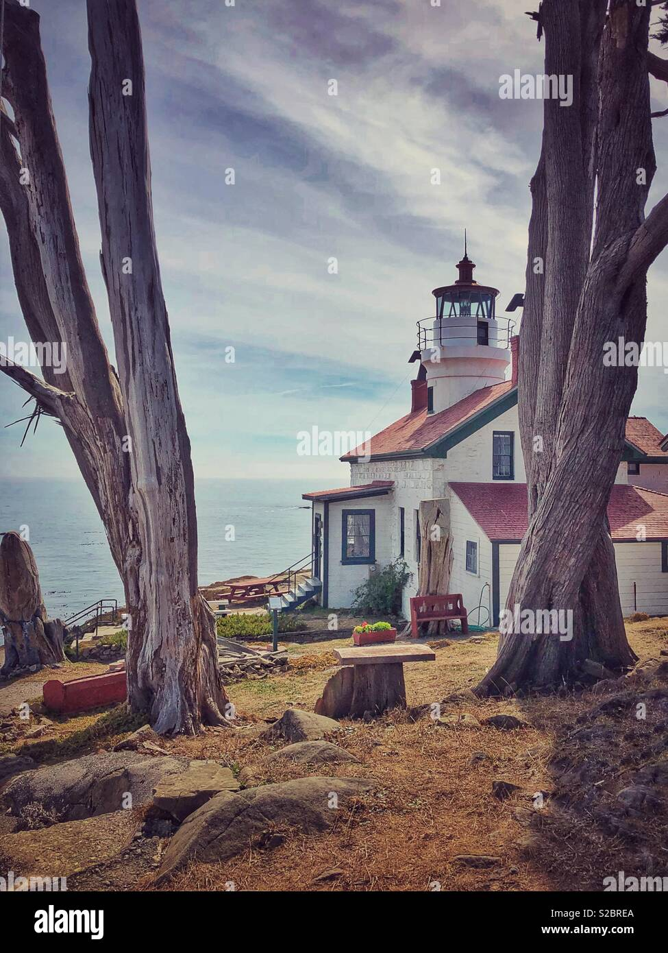 Battery Point Lighthouse - Stock Image