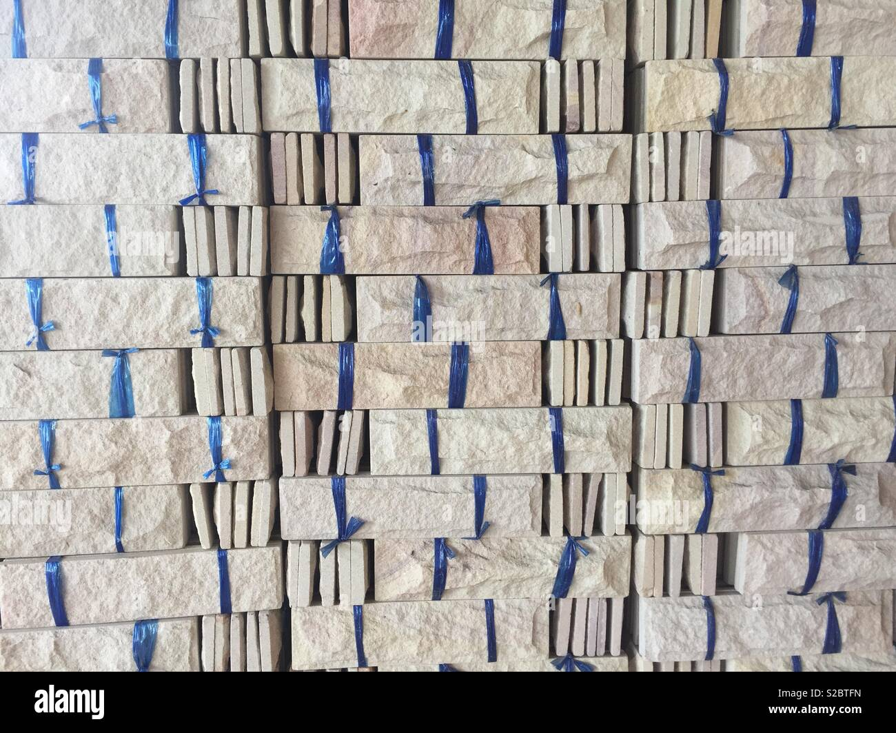 Stone material for decoration - Stock Image