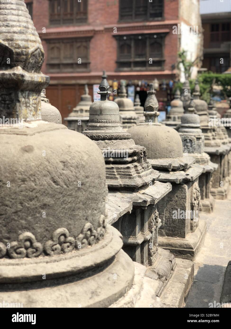 Temple in Nepal - Stock Image