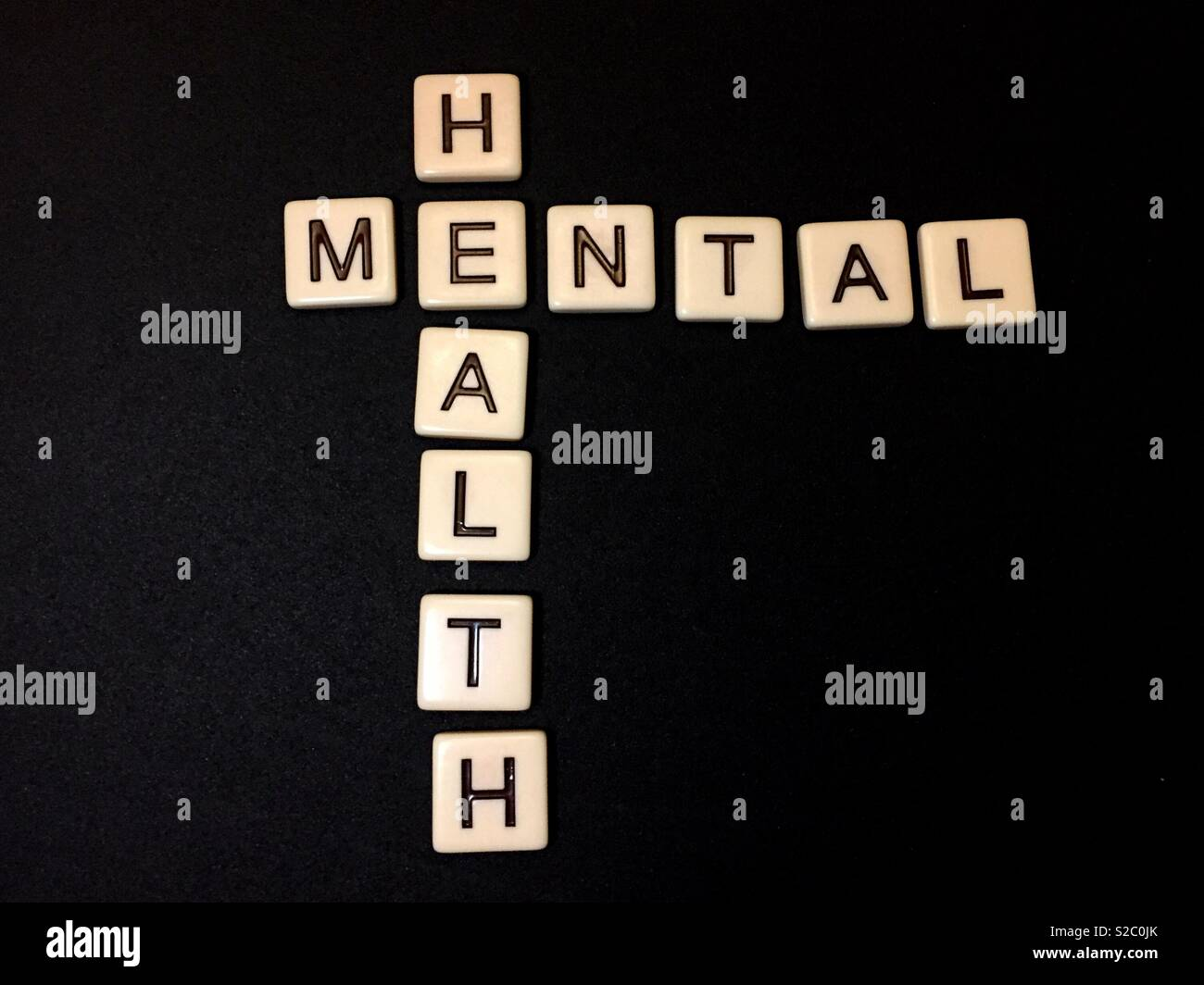Dealing and coping with mental health - Stock Image