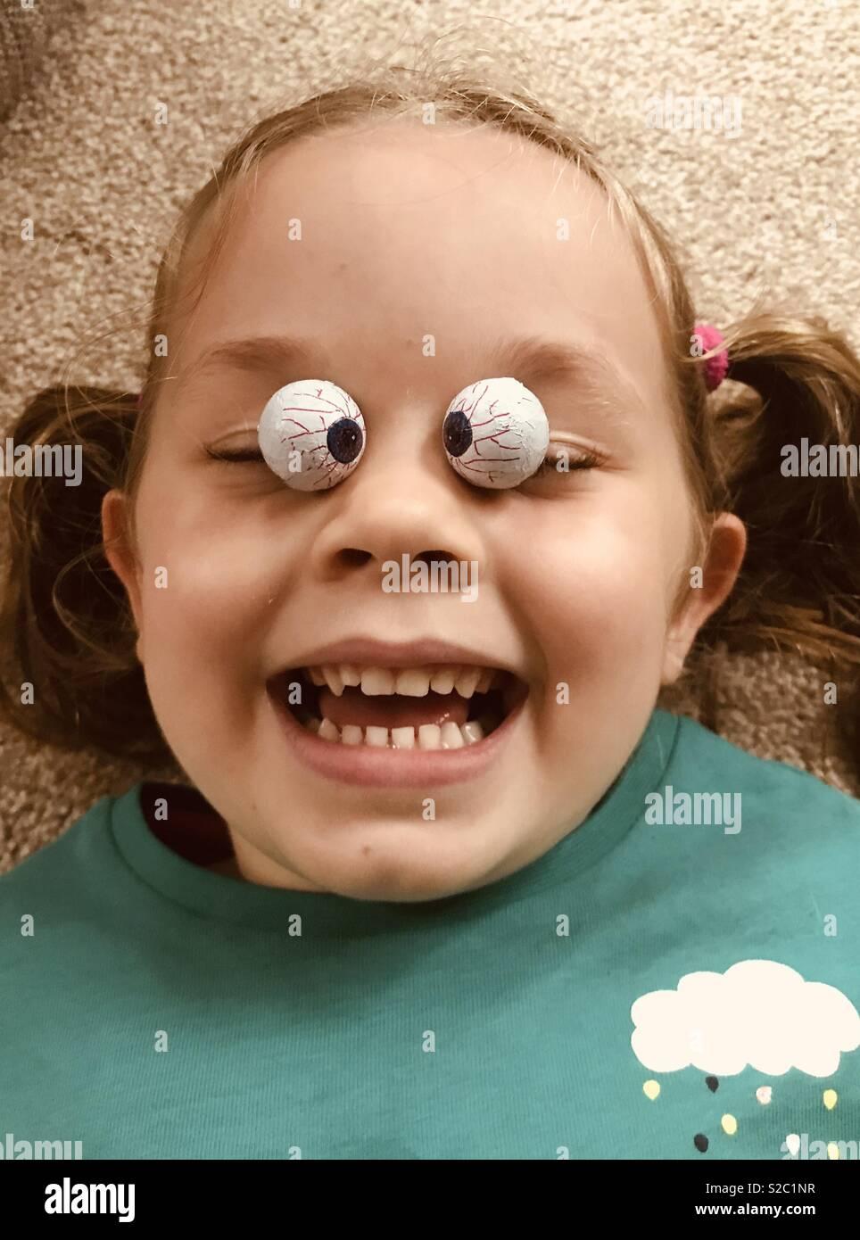 Spooky eyes - Stock Image