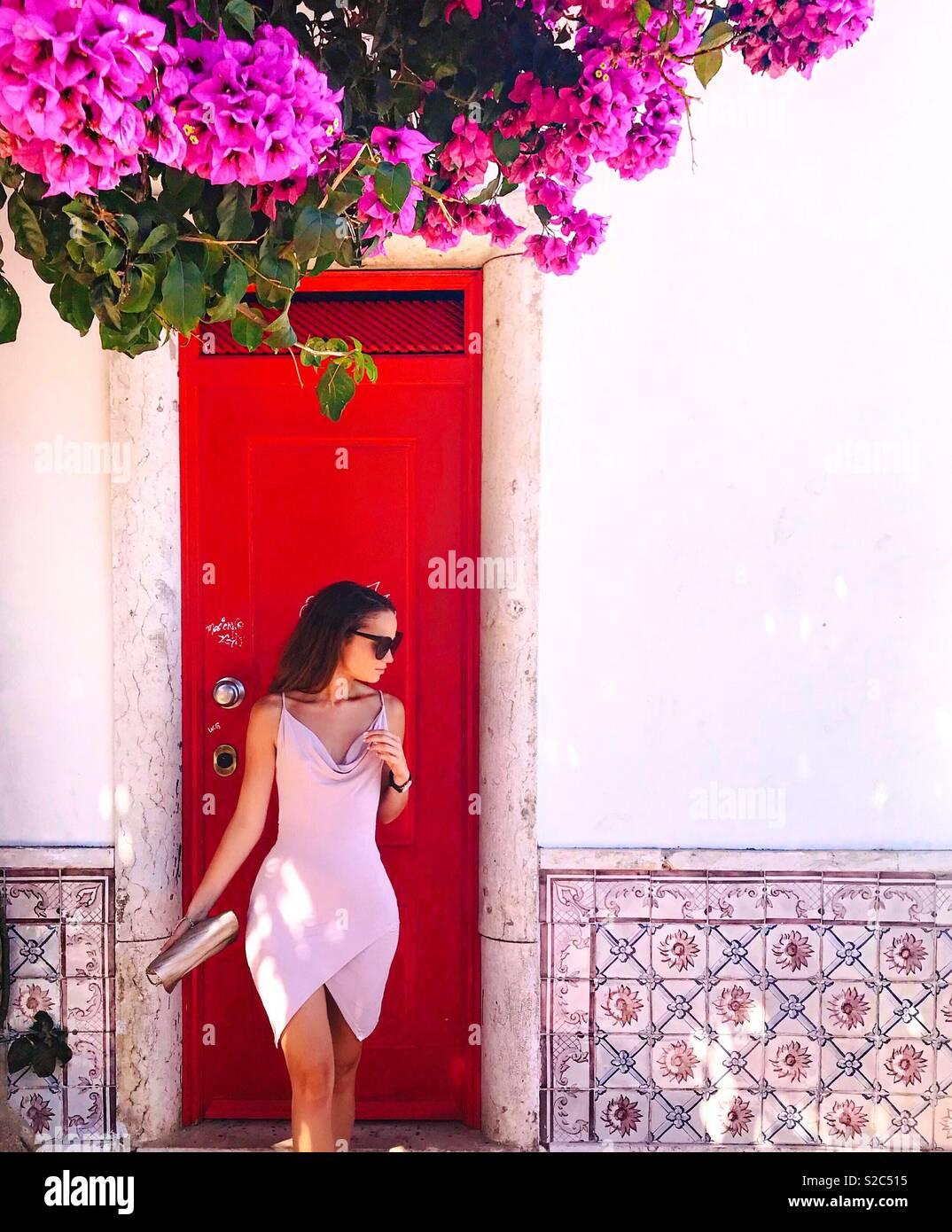 Lisbon Colour Doors - Stock Image