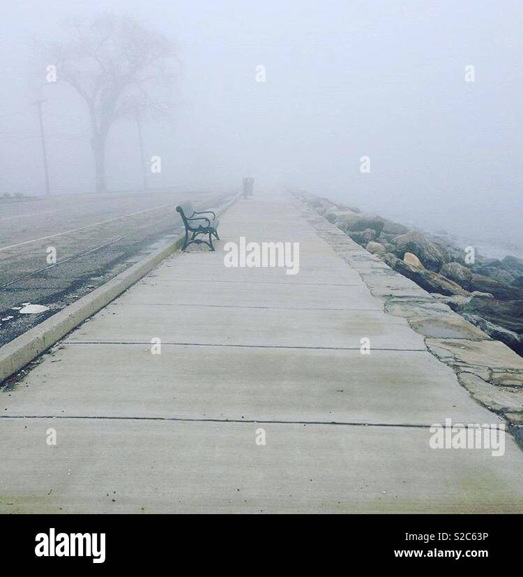 Beyond the fog lies clarity - Stock Image