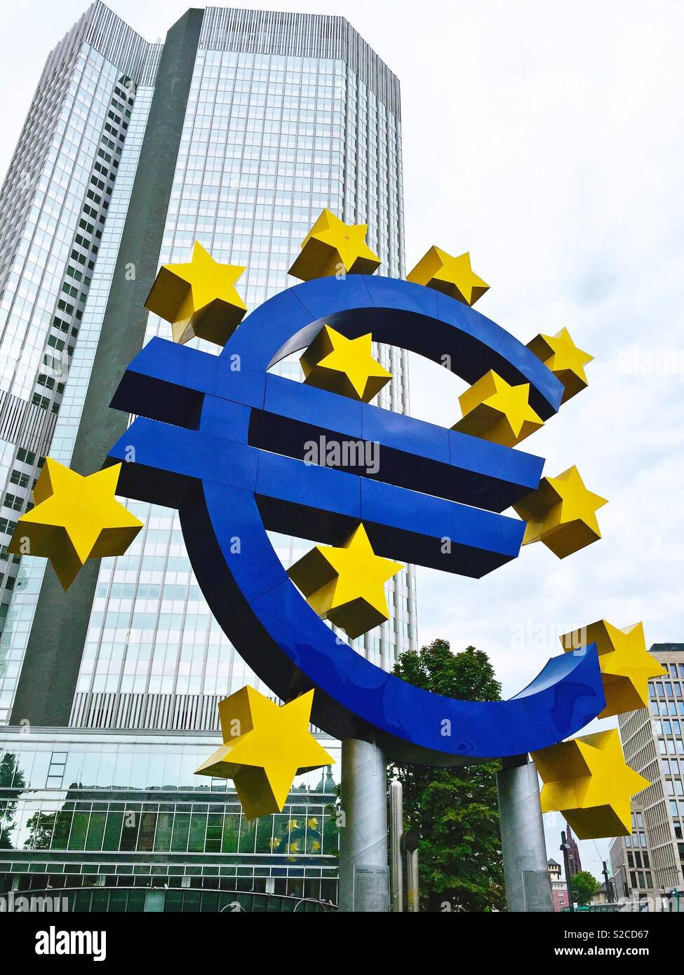 Central European Bank, Frankfurt - Stock Image