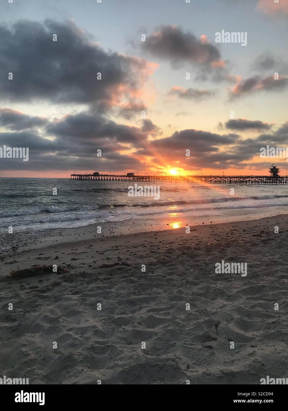 Sun.set. Stock Photo