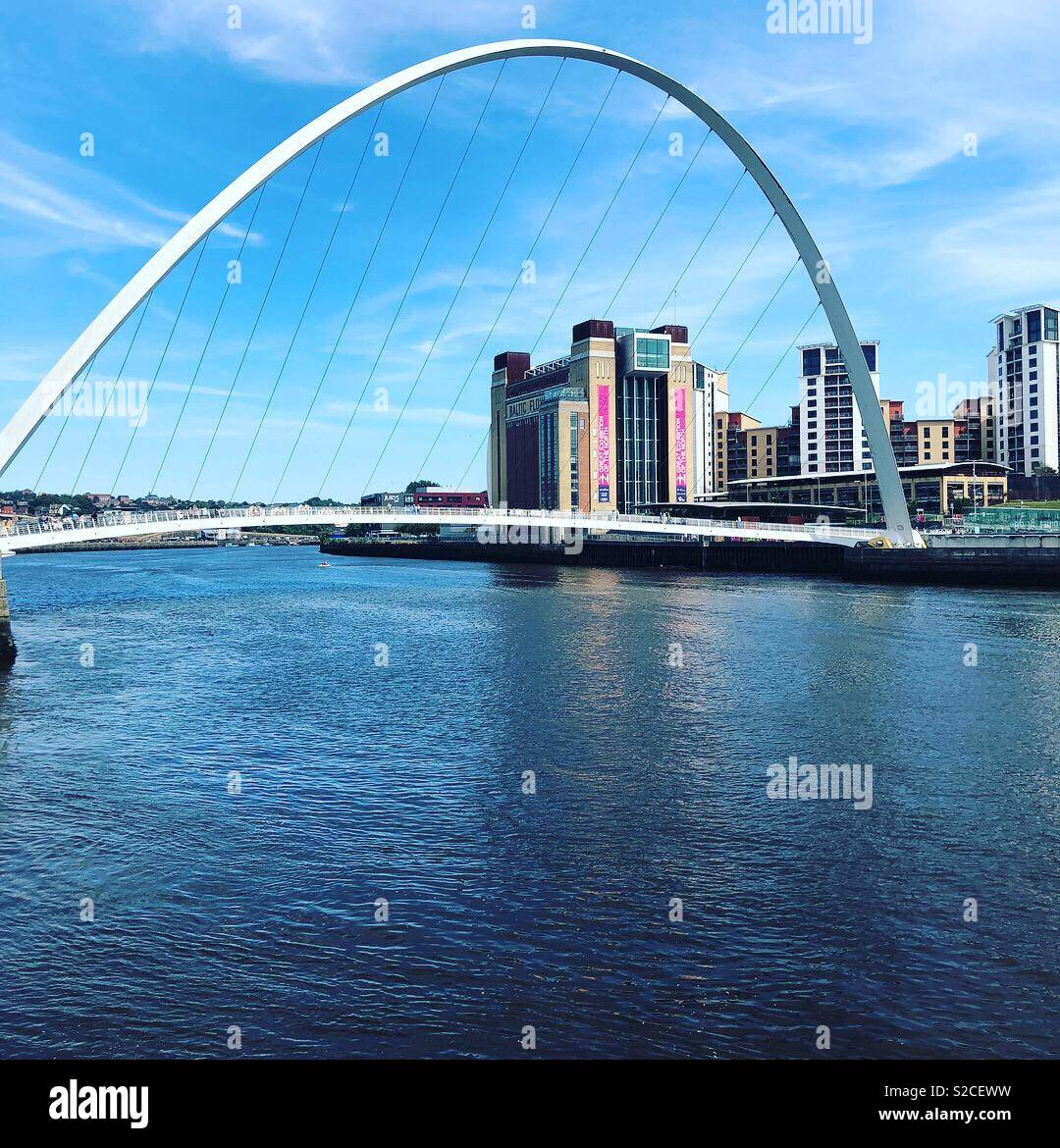 Newcastle millennium bridge - Stock Image