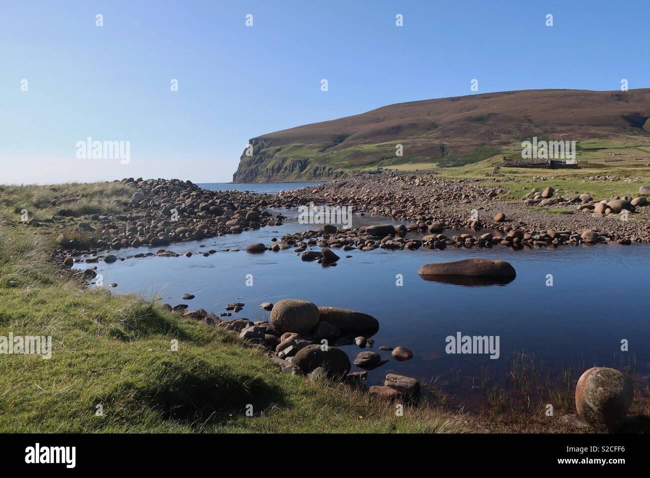 The river to Rackwick beach on Hoy, Orkney, Scotland - Stock Image