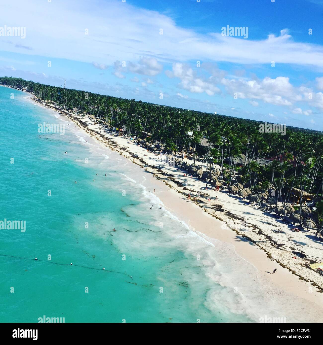 Carribean  beach arial view - Stock Image