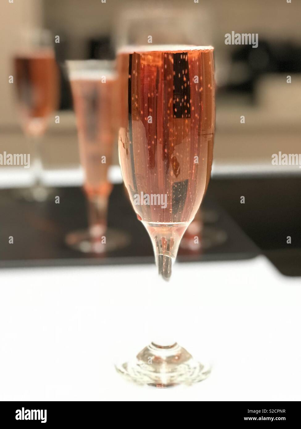 Pink Prosecco - Stock Image