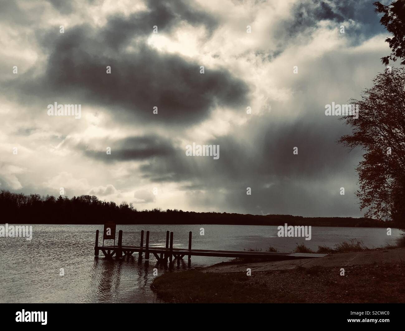 Sun Rays and Shapes in the Clouds - Stock Image