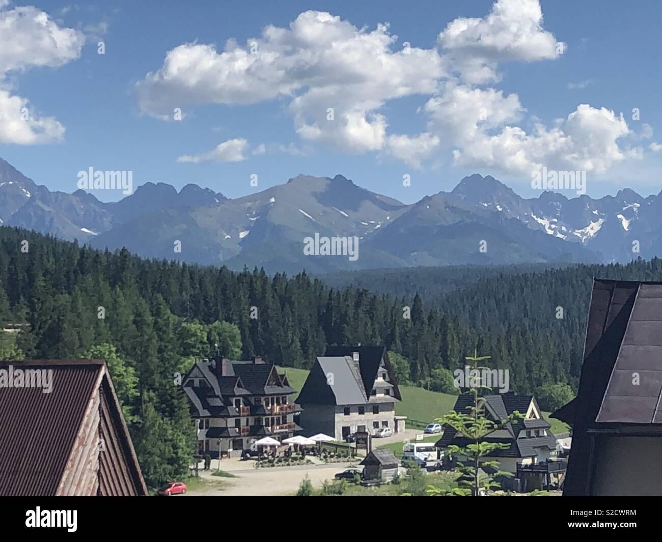 Polish mountain village - Stock Image