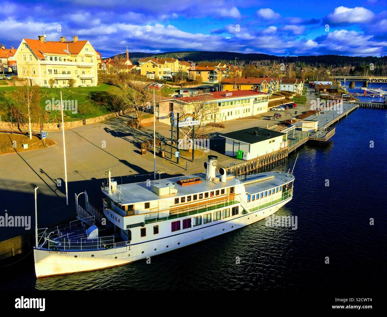 Leksand Dalarna Sweden. - Stock Image