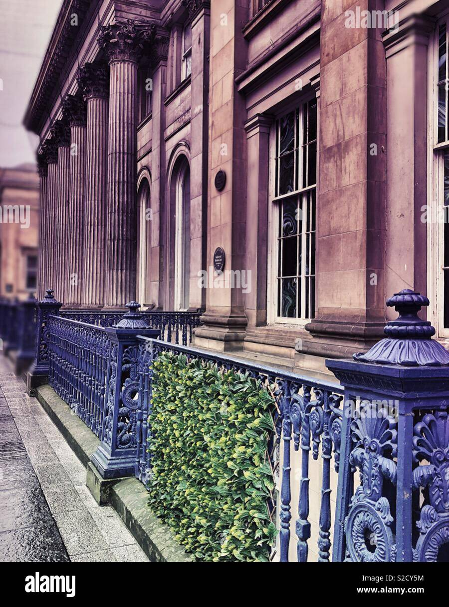 Royal Exchange Square in Glasgow city centre - Stock Image