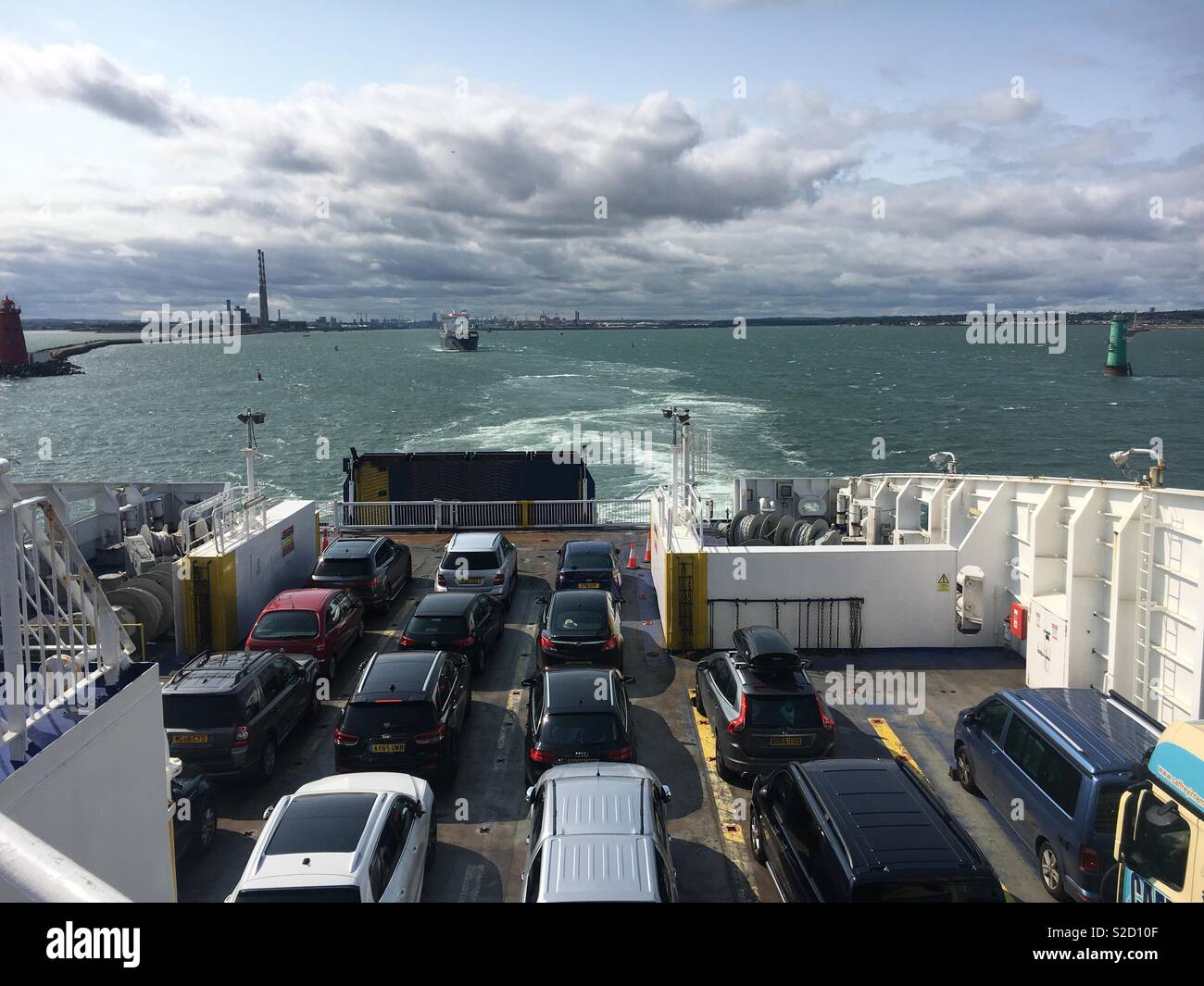 Ferry To Ireland From Holyhead >> Car Ferry Leaving Dublin Ireland For Holyhead Wales Uk
