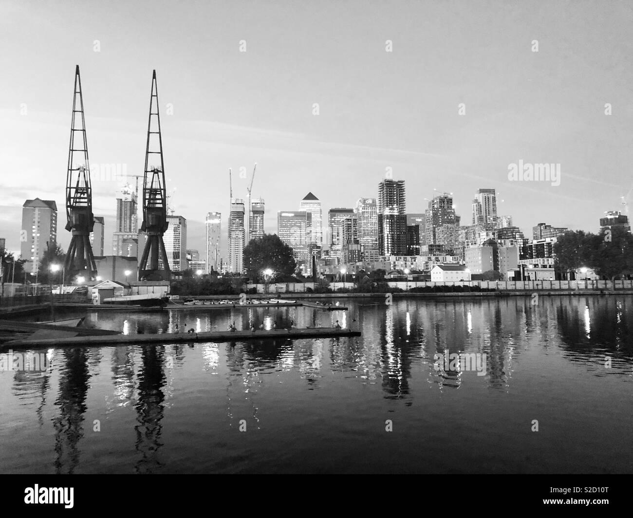 Millwall Dock, London - Stock Image