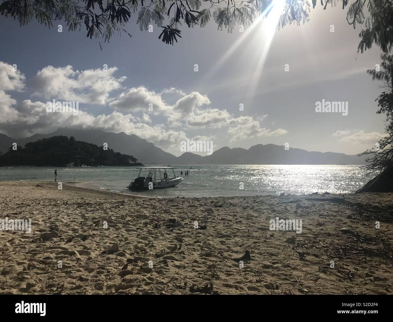 Beach boat trips - Stock Image