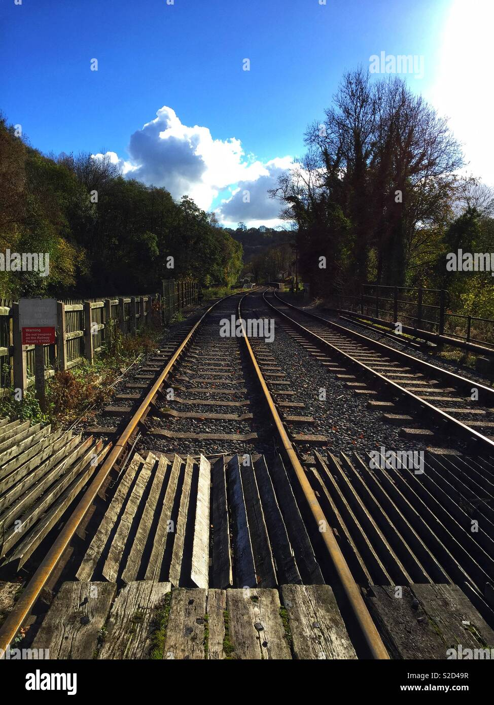 The Railway Track - Stock Image