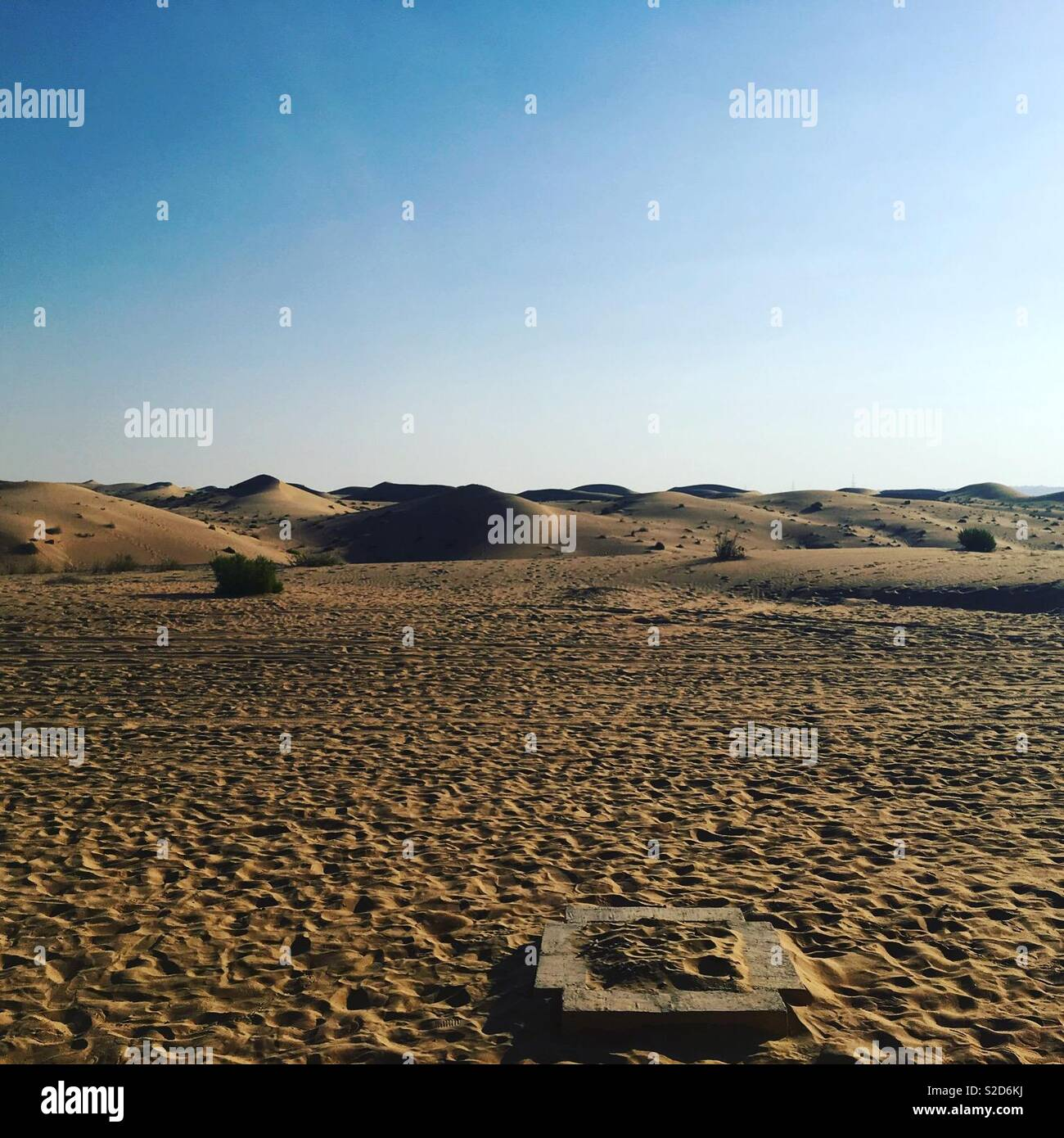 Desert vastness makes you feel so small - Stock Image