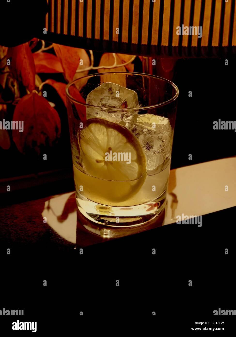 Mezcal Bone Crusher Cocktail - Stock Image