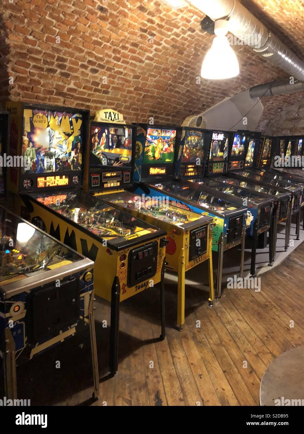 Pinball machines - Stock Image