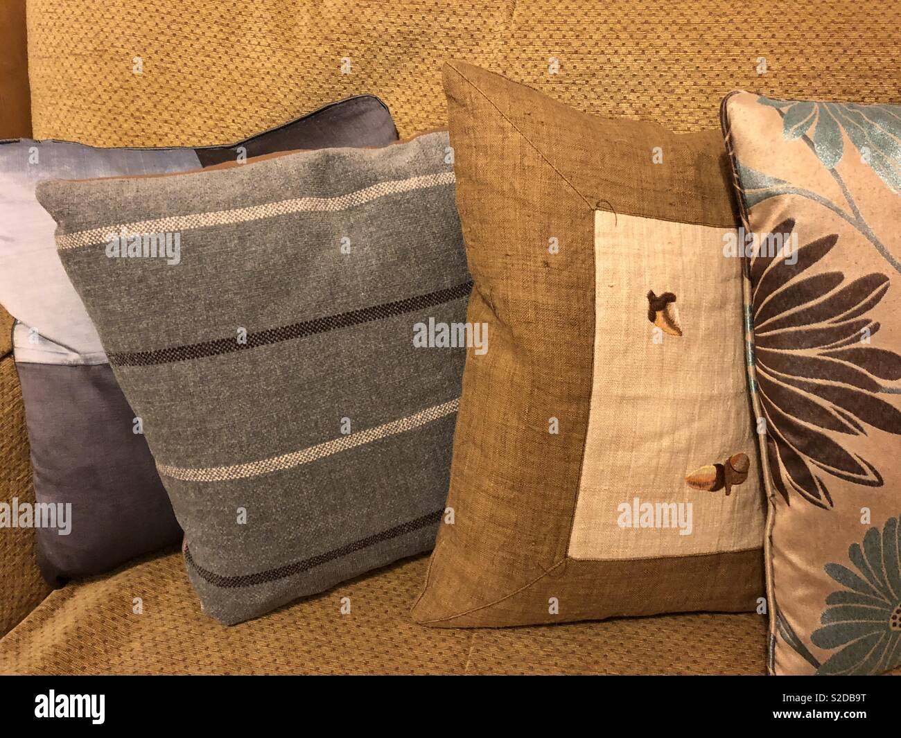 Sofa cushions - Stock Image