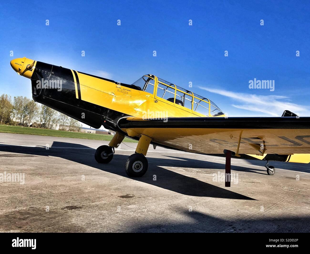 Zlin aerobatic aircraft - Stock Image