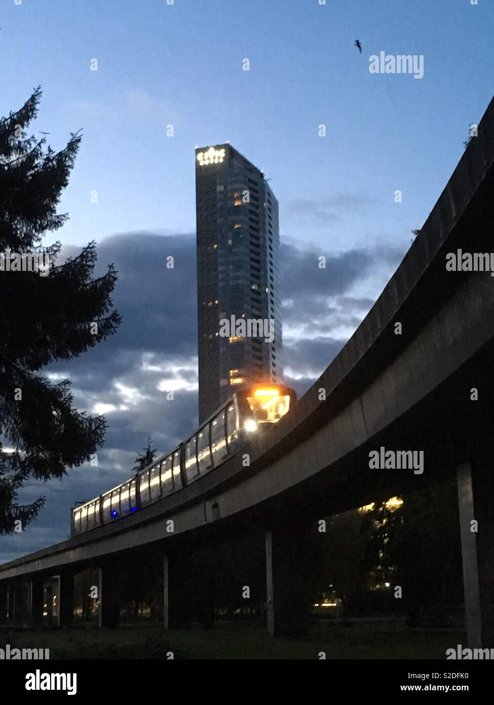 Morning commute - Stock Image