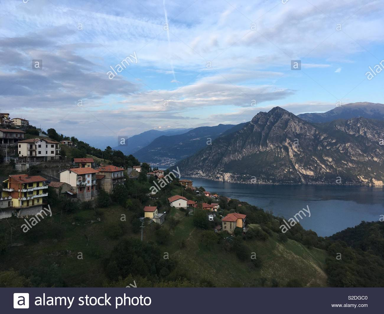 Lake Iseo in Italy - Stock Image
