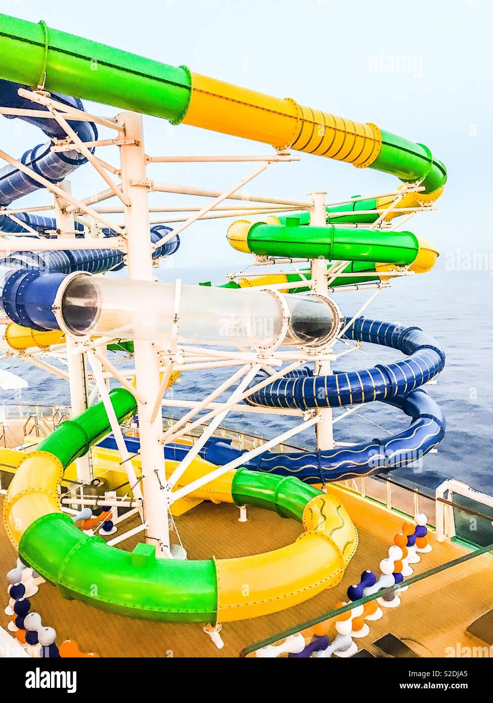Slides on Independence of the Seas cruise ship - Stock Image
