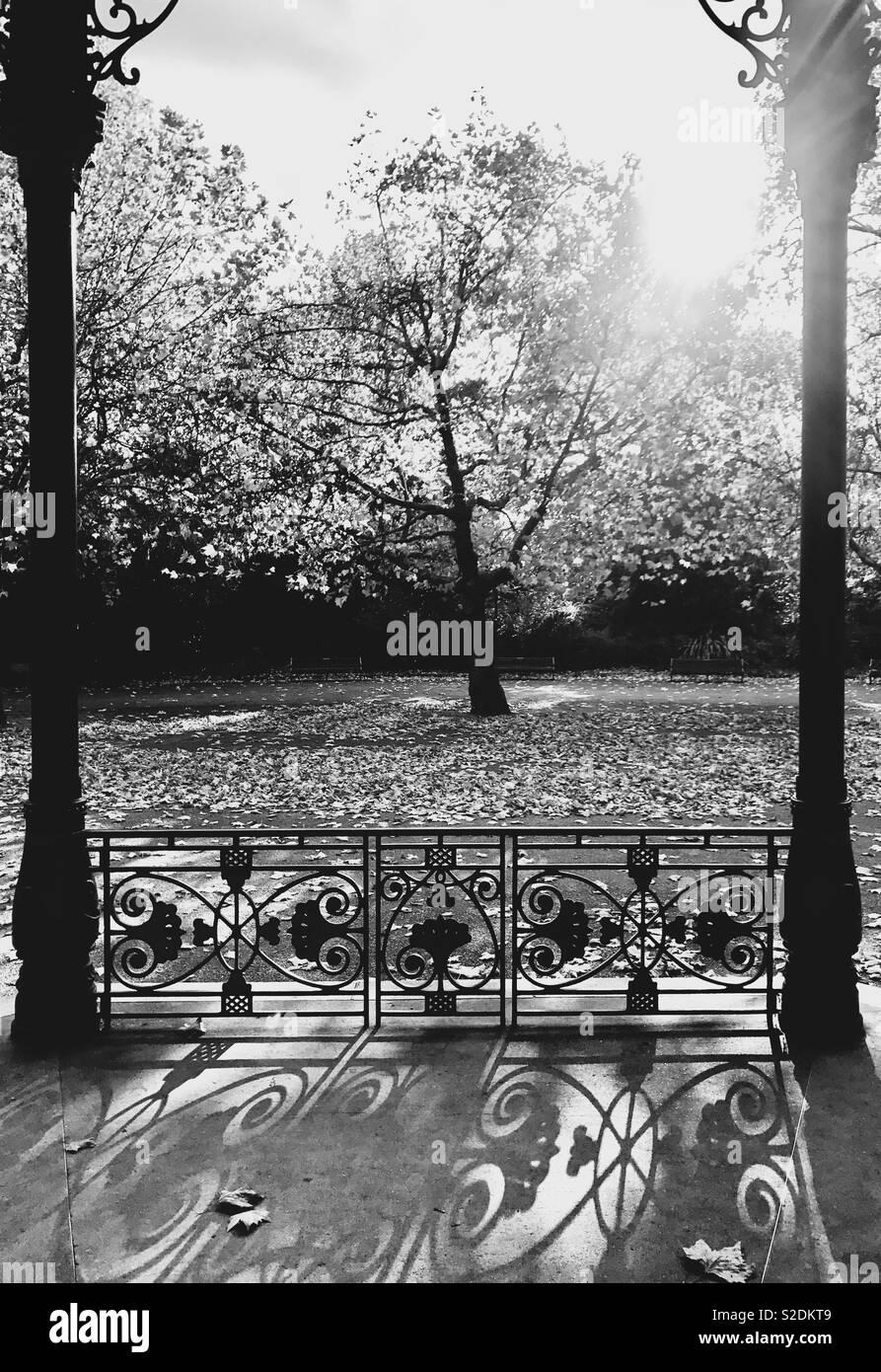 Bandstand Battersea Park, London - Stock Image