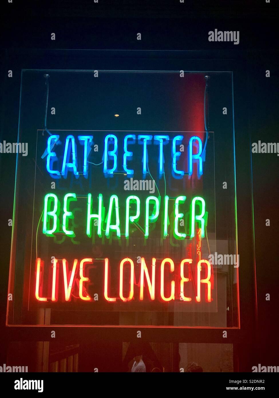 Inspirational led wording - Stock Image