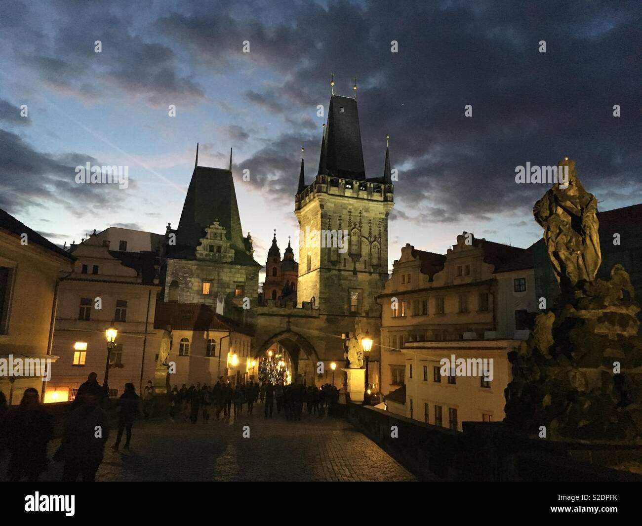Praha Czech Republic old town - Stock Image